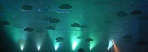 arrière plan de l'animation des parapluies